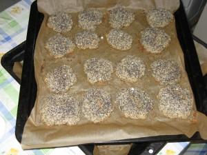 mákos kókuszos keksz megsült